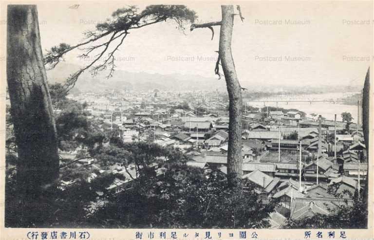 lt1460-Ashikaga 公園より見たる足利市街 足利名所