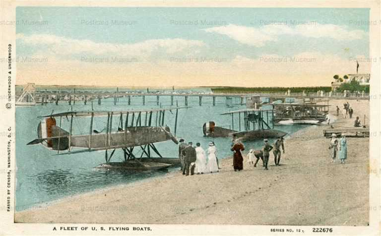 air100-Fleet of US Flying Boats Seaplanes-Beach