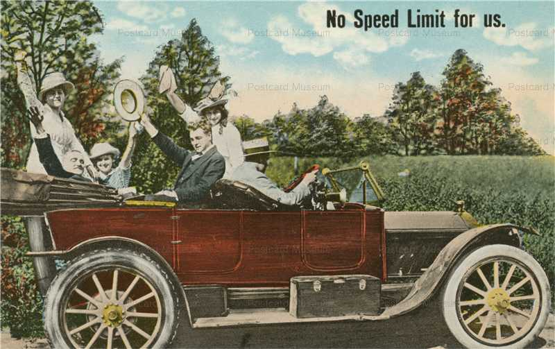 car130-No Speed Limit for Us American Automobile Car Humor