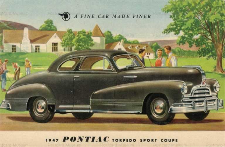 car230-1947 Pontiac Torpedo Golf Vintage