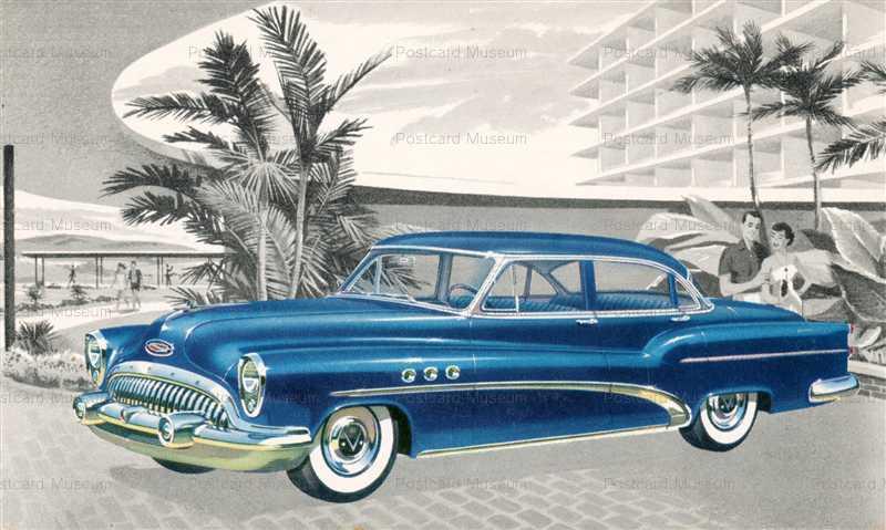 car270-1953 Buick Super Riviera Sedan Car Chrome Postcard