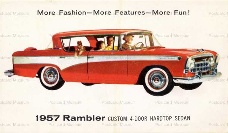 car330-1957 Rambler Custum Cars Vitage Advertising