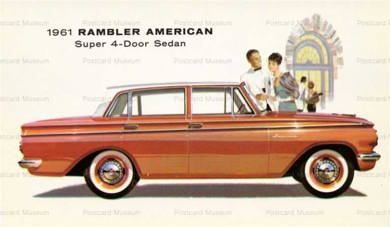 car352-1961 Rambler American Cars Vintage Advertising
