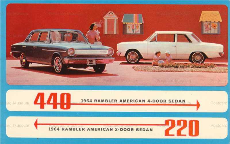 car415-1964 Rambler 220 and 440 Auto American 2 and 4-Door Sedans