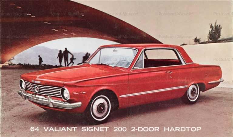 car430 1964 plymouth valiant 200 2door hardtop 絵葉書資料館
