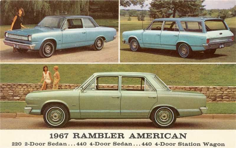 car440-1967 AMC Rambler American 3-View