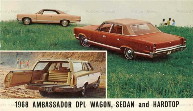 car450-1968 AMC Ambassador DPL Wagon Sedan Hardtop