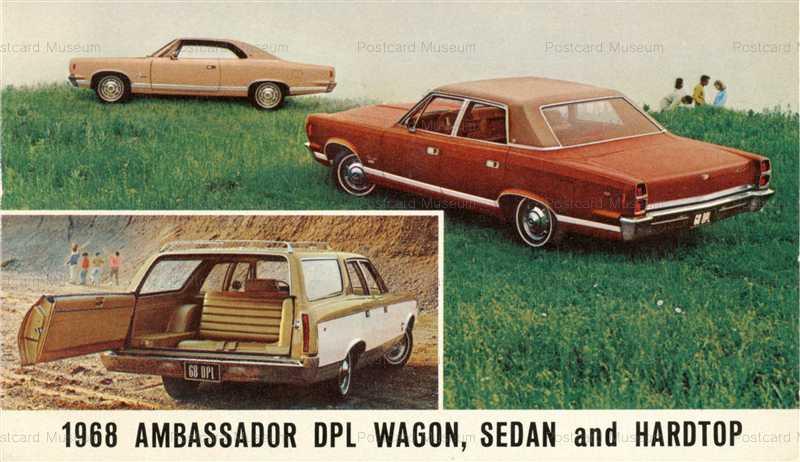 car450-1968 AMC Ambassador DPL Wagon Sedan Hardtop