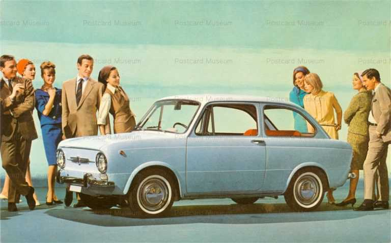 car502-Fiat 850 Light Blue People