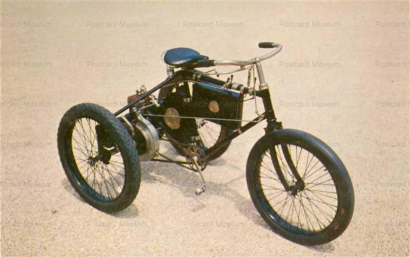 car710-Dedion ET Bouton Tricycle Postcard Long Island NY