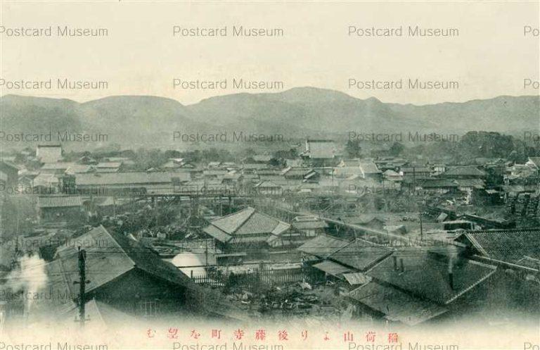fuw1060-Gotoji Inariyama 稲荷山より後藤寺町望む 田川