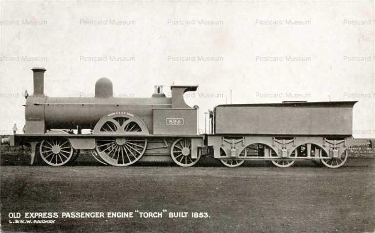 trm230-Old Express Passenger Engine Torch Built 1853
