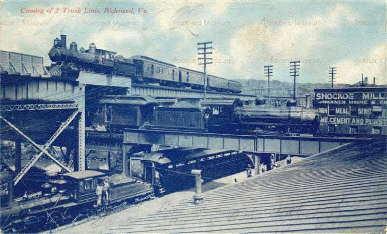 trm270-VA Richmond X-Ing of 3Trunk Lines Railroad