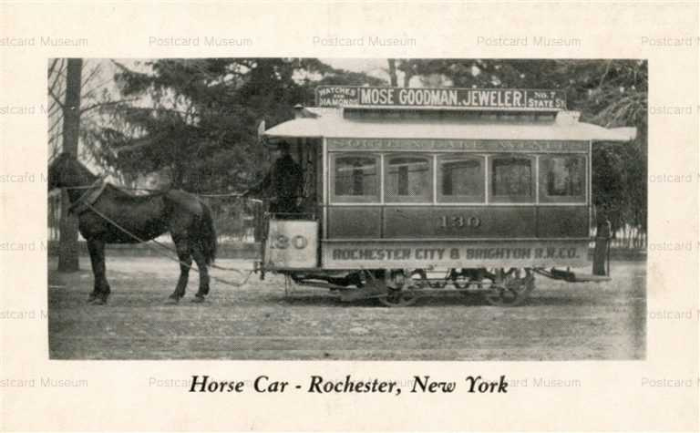 trm310-William Reed Gordon Trolley Series Horse Car No130 Rochester New York