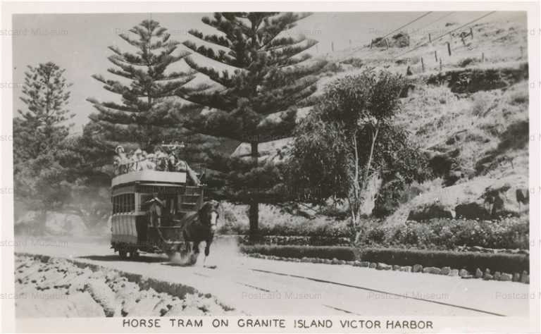 trm325-Horse Tram Granite Island Victor Harbor