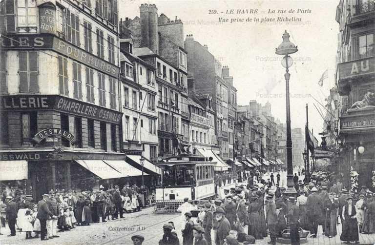 trm380-France Le Havre rue de Paris Tram Osswald