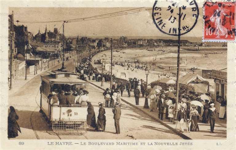 trm440-Le Havre Le Boulevard Maritime et la Nouvelle Jetee