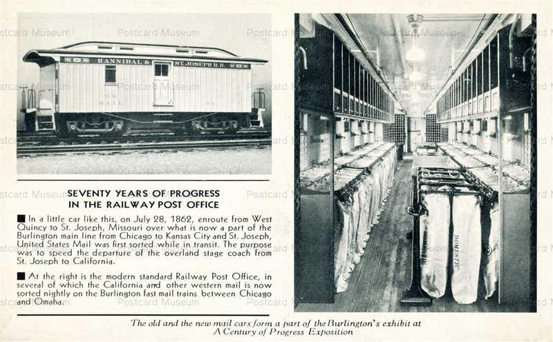 trm470-Railway Post Office RPO Car Chicago Worlds Fair 1933