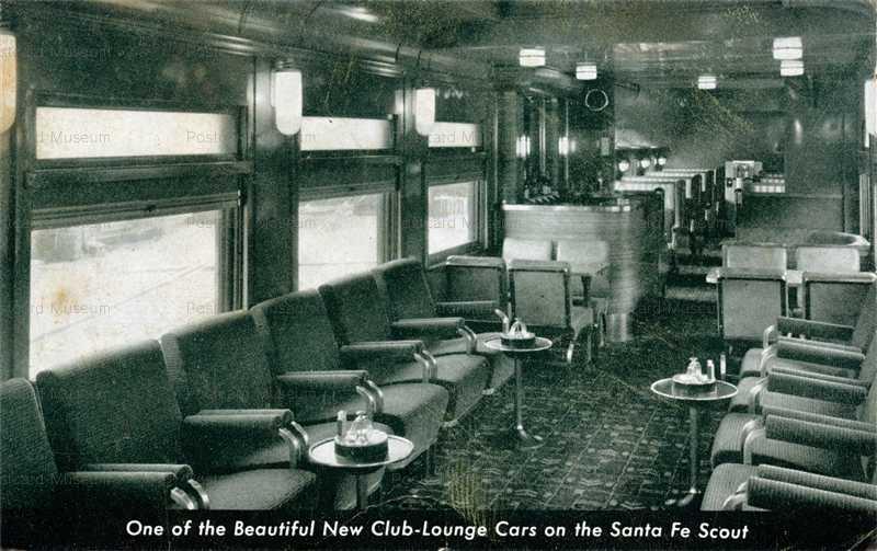 trm480-Railroad Santa Fe Scout Lounge Car