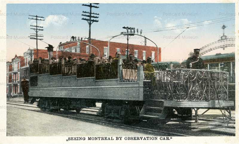 trm490-Open Top Trolley Car Montreal Canada1915