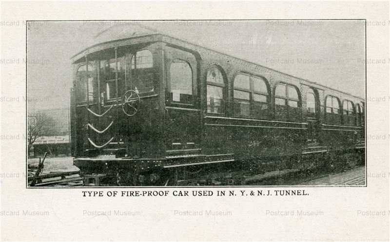 trm510-Type of Fire-Proof Car Used in N.Y.&N.J.Tunnel