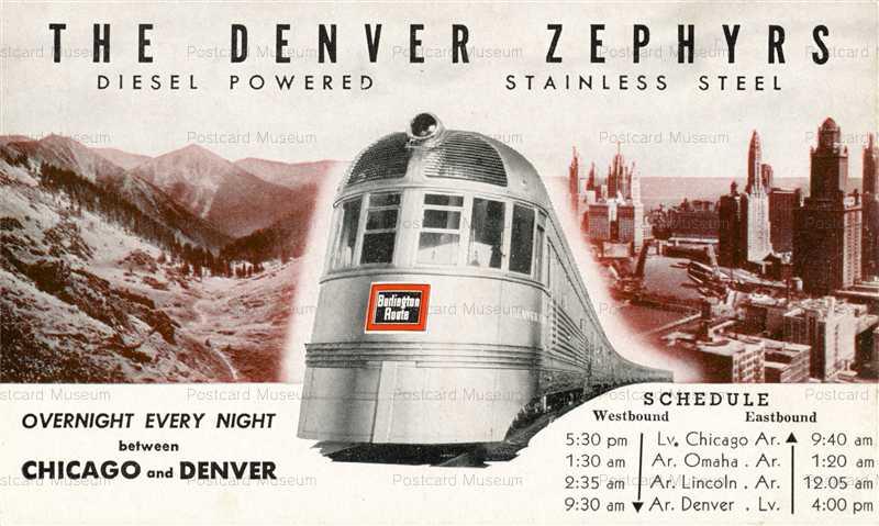 trm525-Railroad Train Denver Co Zephyrs Schedule