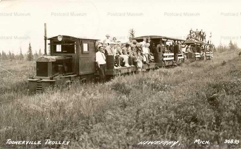 trm540-Newberry Michigan Toonerville Trolley Railroad RPO