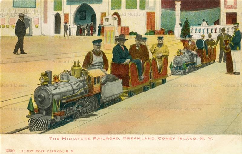 trm570-Miniature Train Railroad Dreamland Coney Island N.Y.
