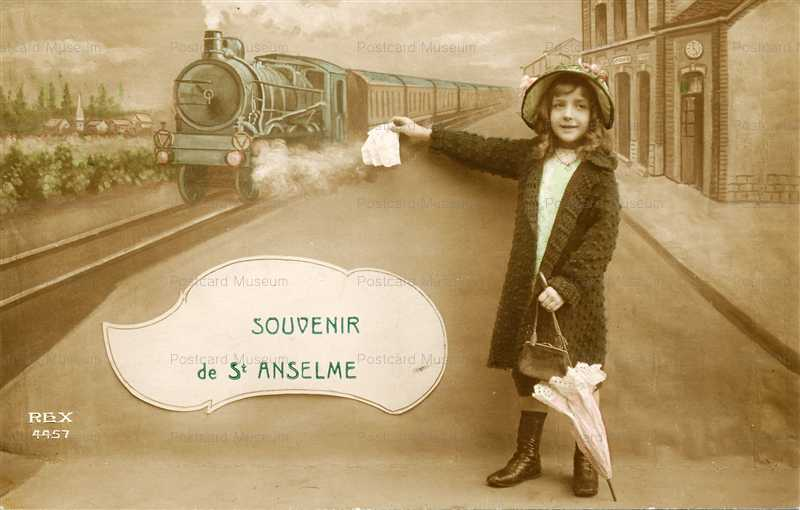 trm730-Little French Girl Catching RR Train