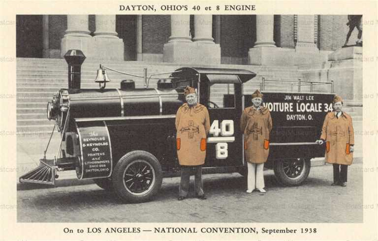 trm740-Dayton Ohio's 40 et 8 Engine 1938