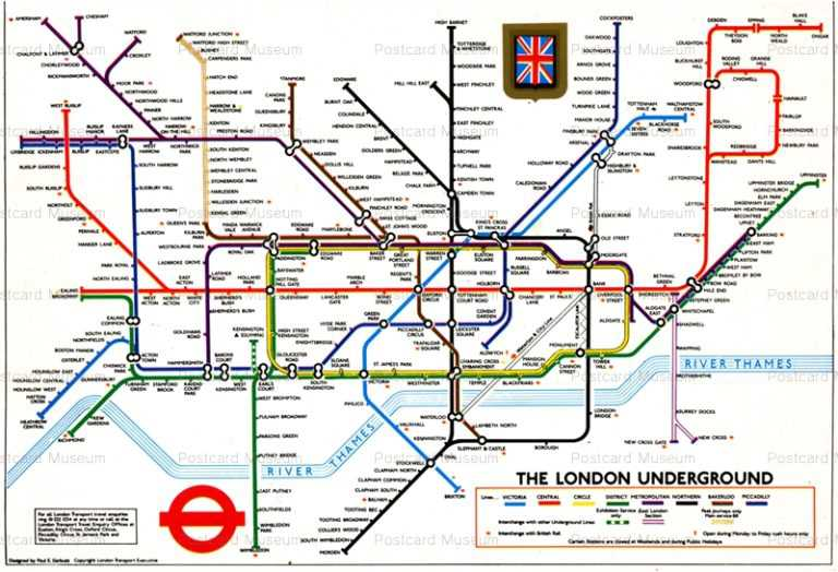 trm800-London Underground Subway Transport Map
