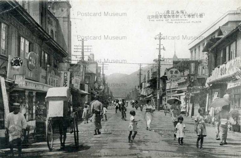 kum097-Bustling Place New town 最も繁華なる新市街電氣館附近 熊本