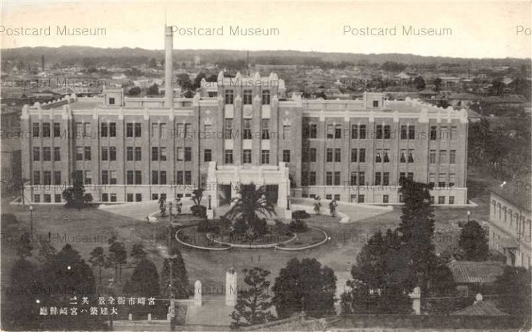 miy165-Prefectural Miyazaki 宮崎市街全景 県庁