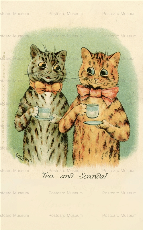 acc133-Louis Wain Tea and Scandal