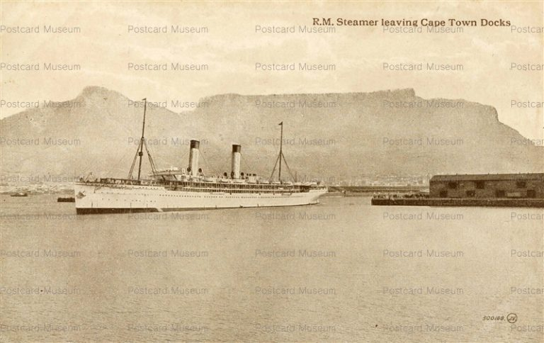 gsa023-R.M. Steamer Leaving Cape Town Docks