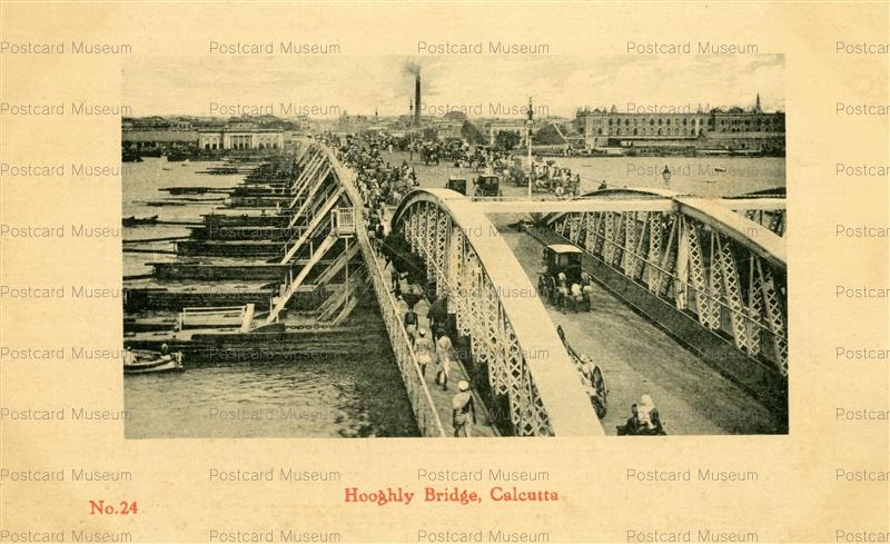ind018-Hooghly Bridge Calcutta