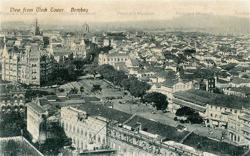 ind199-View from Clock Tower Bombay