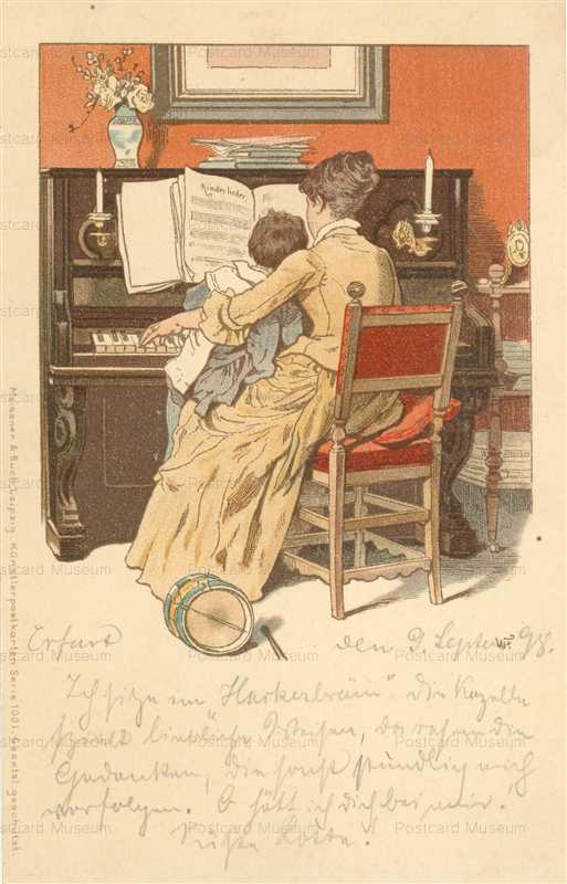 Qb400-Meissner & Buch Mother & child at Piano