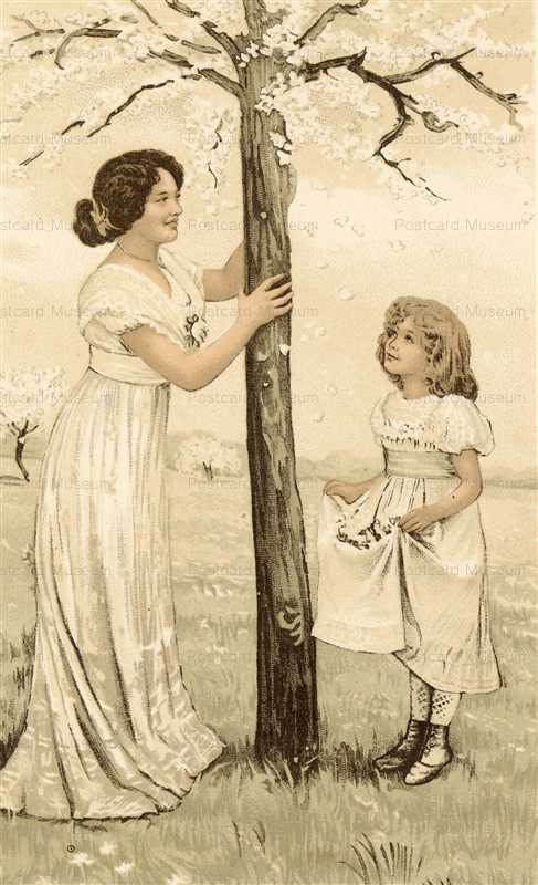 abc071-Mother with Girl Under Blossom2