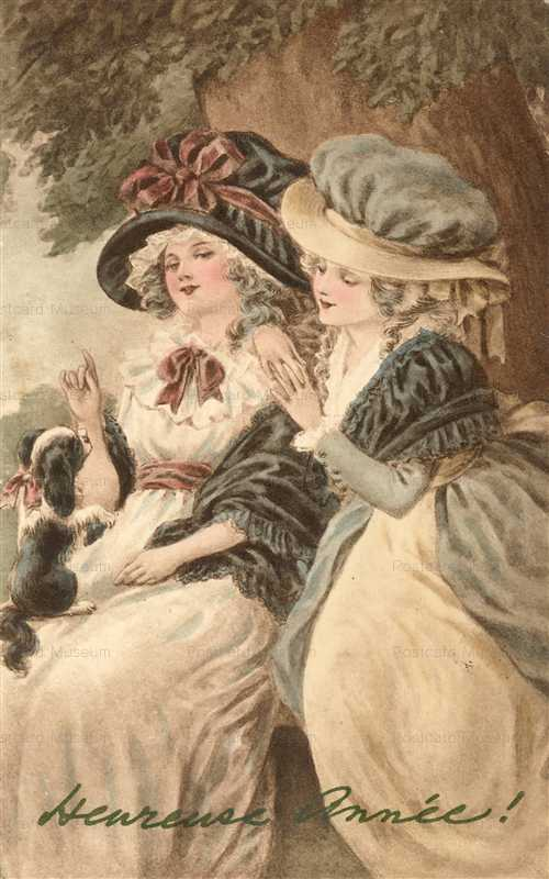 abc160-Period Girls Playing with Puppie