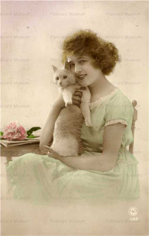 ac011-Lady with Cat