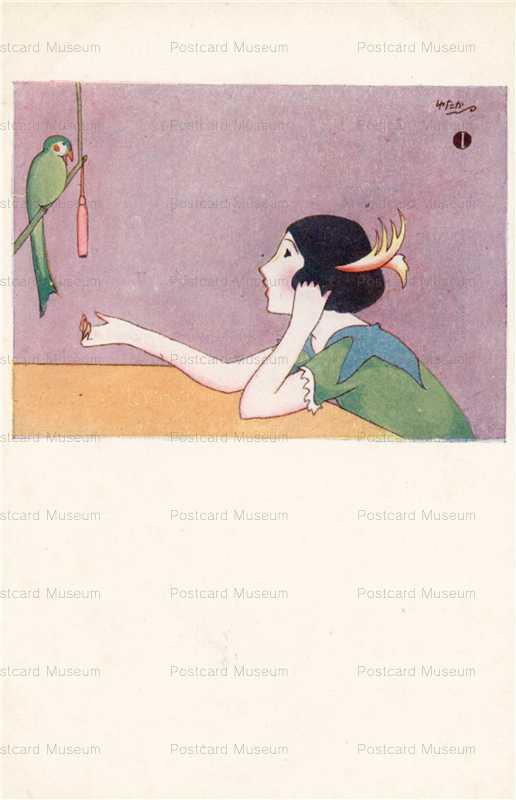 ah003-橋爪ゆたか 少女と鳥