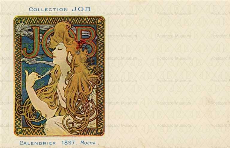 am006-Collection JOB Calendrier 1897 Alphons Mucha