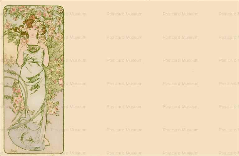 am027-Roses 1900 Alphons Mucha