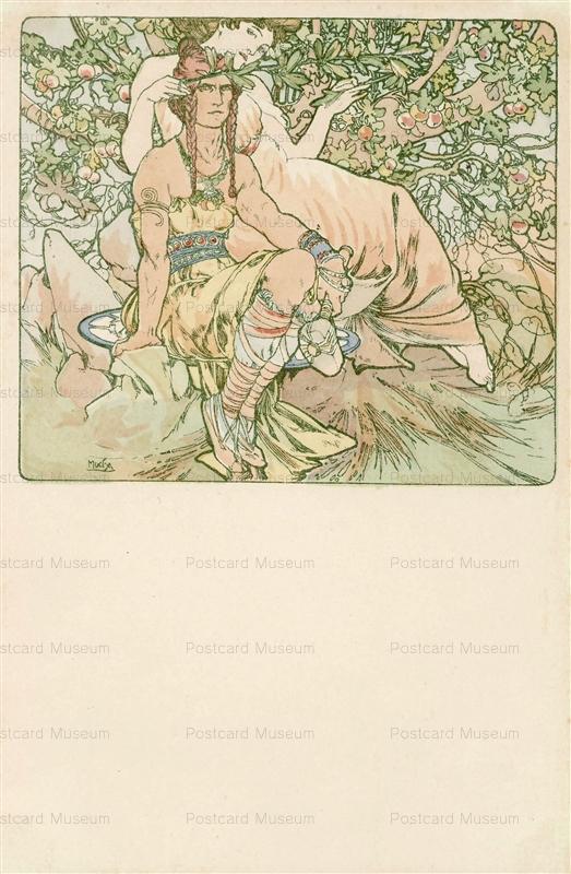 am030-Four Ages of Man.Manhood 1900 Alphons Mucha