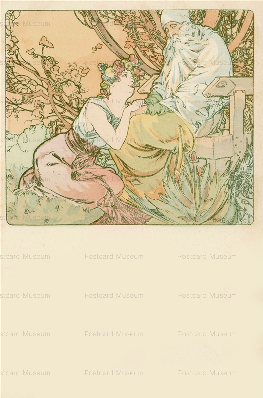 am031-Four Ages of Man.Old Age 1900 Alphons Mucha