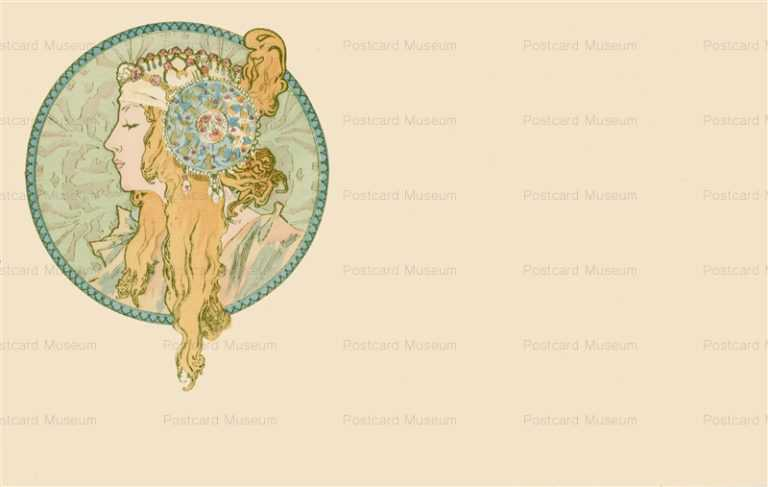 am033-Byzantine Head Blonds 1900 Alphons Mucha