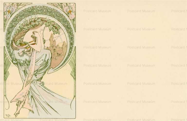 am041-Poetry 1900 Alphons Mucha