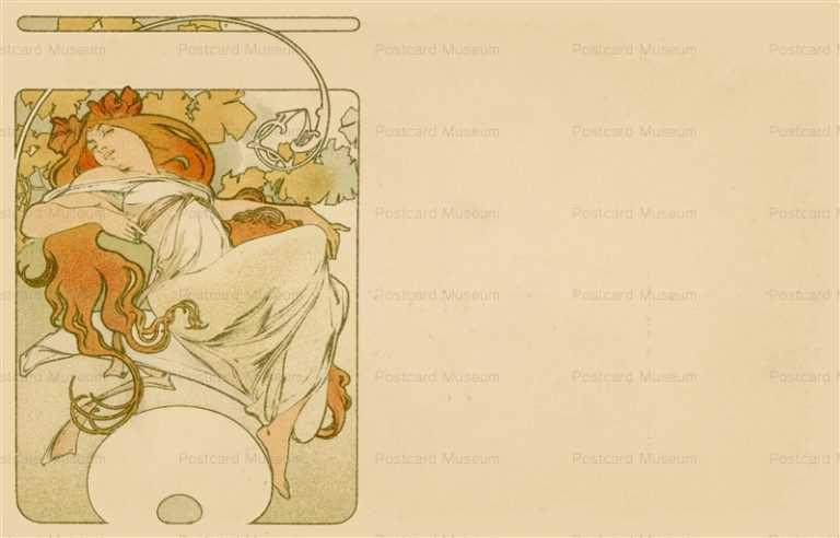 am045-Design for Postcard 1900 Alphons Mucha