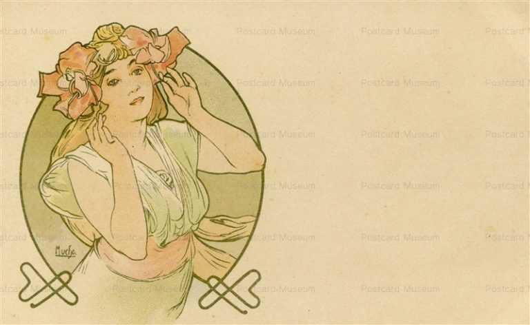 am047-Design for Postcard 1900 Alphons Mucha